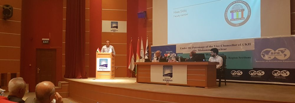 A Team from Komar University Participated in First SPE Workshop of Kurdistan and Iraq